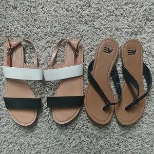 2 pair sandals